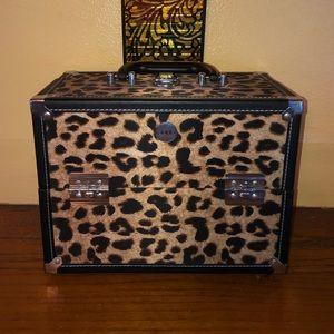 SOHO Makeup Beauty Case - Leopard Print